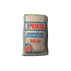 Цементная штукатурка для наружных работ Bergauf Praktik 30 кг