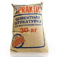 Цементная штукатурка для внутренних работ Bergauf Praktik 30 кг